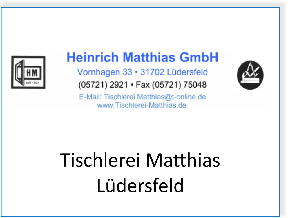 Tischlerei Matthias in Lüdersfeld